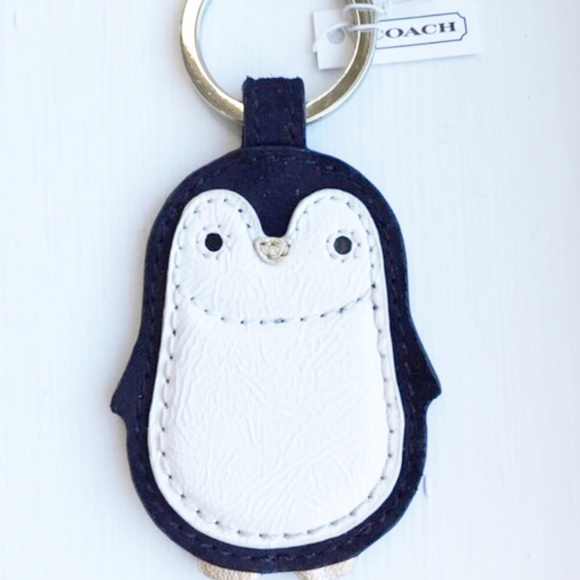 Rare Htf Coach Penguin Keychain Nwt Open2offers Nwt
